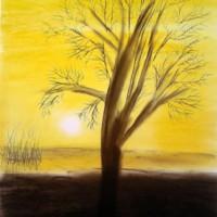Pastellmalerei: »Herbstimpression«, November 2010 | © mh