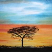 Pastellmalerei: »African Blue«, April 2011 | © mh