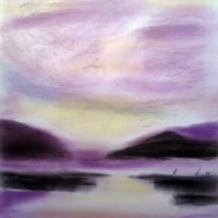 Pastellmalerei: »Verwirbelungen«, Oktober 2010 | © mh