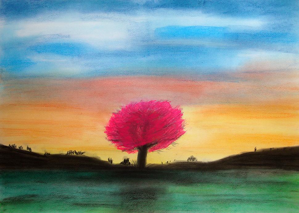 »Blühender Japanischer Kirschbaum«, © mh April 2011