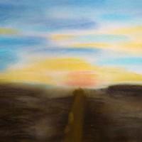 Pastellmalerei: »Aus der Dunkelheit«, Dezember 2009 | © mh