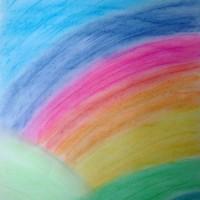 Pastellmalerei: »Regenbogen«, November 2009 | © mh