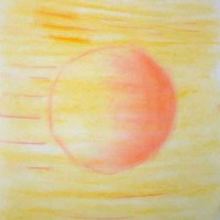 Pastellmalerei: »Sonnenwinde«, Oktober 2009 | © mh