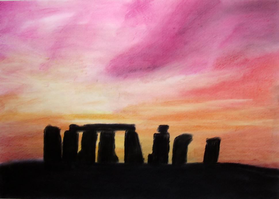 »Stonehenge, prähistorische Heilstätte«, © mh April 2011