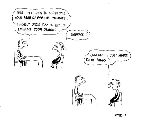 Cartoon: ACT Dämonen umarmen