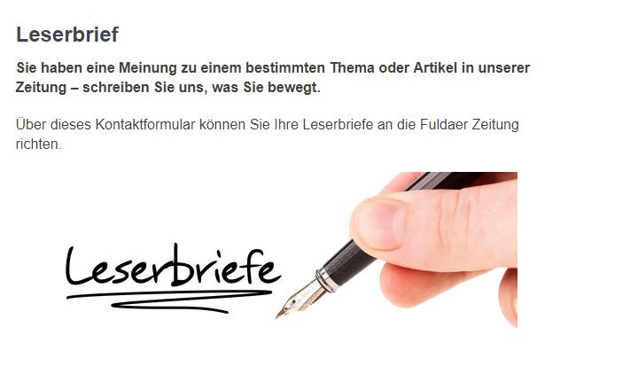 Leserbriefe an die Fuldaer Zeitung