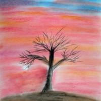 Pastellmalerei: »Beharrlichkeit«, Dezember 2009 | © mh