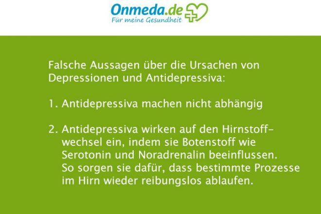 Die Gesundheitsplattform ONMEDA trifft falsche Aussagen über die Ursachen von Depressionen und über Antidepressiva