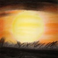 Pastellmalerei: »Sundown«, Dezember 2009 | © mh