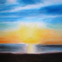 Pastellmalerei: »Weg aus der Depression«, April 2010 | © mh