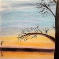Pastellmalerei: »Winterimpression Nr. 2«, November 2010 | © mh