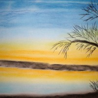 Pastellmalerei: »Winterimpression Nr. 1«, Dezember 2009 | © mh