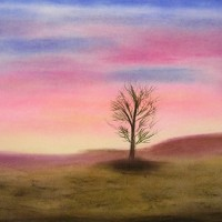 Pastellmalerei: »Winterimpression Nr. 3«, November 2010 | © mh