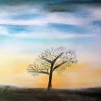 Pastellmalerei: »Winterimpression Nr. 4«, November 2010 | © mh